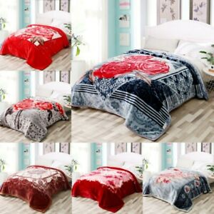 2 Ply Extra Heavy Weight Thick Soft & Warm Bed Blanket Double Sided King Size