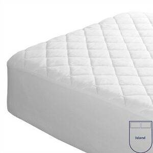 Caravan Mattress Protector Quilted Cotton Blend Right/Left Cut Off & Island Bed