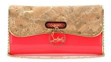 CHRISTIAN LOUBOUTIN Riviera Patent Leather Cluth Bag Handbag NWT