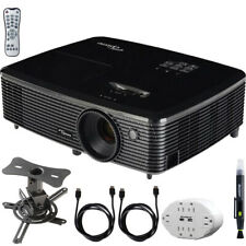Optoma HD143X Full HD 1080p 3D DLP Proyector Home Theater paquete de hardware