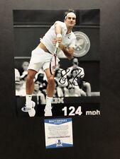 Roger Federer autographed signed 8x10 photo Beckett BAS COA Tennis Wimbledon ATP