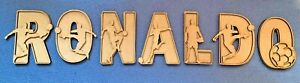 Wooden MDF 3D Football  Letters  3mm Alphabet letters blank Signs Home Door