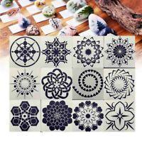 12Pcs/Set Painting Mandala Dotting Stencils Set for Walls Floors DIY Decoration