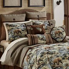 Croscill Kodiak Hunting Cabin Queen Comforter Set 1 Comforter 2 Shams 1 Bedskirt