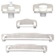 Accessori bagno classico in legno decapè sbiancato set completo arredo provenza