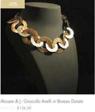 Alcozer & J - Girocollo anelli in bronzo dorato (-30% fine serie!!!)