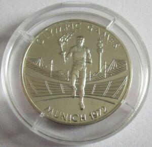 Zambia 500 Kwacha 2002 Olympics Munich Torch Relay Silver