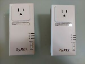 ZyXEL PLA-407 Powerline Pass-Thru Ethernet Adapters (x2) 200 Mbps