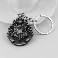Harry Potter Silver Hogwarts Sigil Symbol Novelty Keyring Keychain Gift Bag