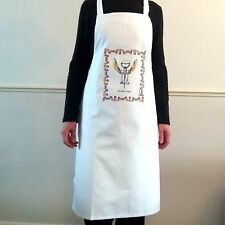 Kitchen Angel Corkscrew Cotton Apron Simon Drew Design Gift