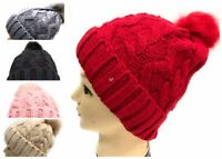 WHOLESALE JOBLOT 12 PCS HATS FUR GIFT WARM POM POM  BIG SIZE NEW 1100