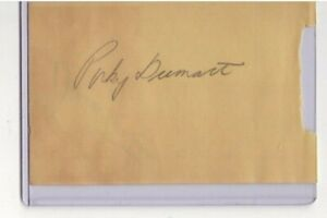 WOODY DUMART & DUNC FISHER NHL SIGNED AUTOGRAPH PAGE BOSTON BRUINS NY RANGERS
