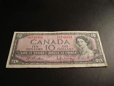 1954 Bank of Canada $10 note - ten dollar bill - CV6740481