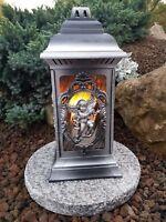 Grablaterne mit Granitsockel Grablampe Grableuchte Granit Grablicht Kerze Engel.