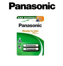 2 piles rechargeables AAA pour telephone sans fil LR03 HR03 750mah Panasonic