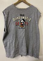 Walt Disney World Sleeveless T-Shirt 1971 The Original Mickey Mouse XXXL Gray