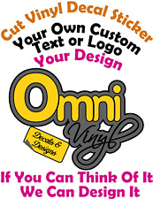 Create Your Own Custom Personalised Wall,Car,Window,Laptop Vinyl Decal Sticker