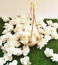 25 White Sakura Balsa Wood Sola Diffuser Flowers Handmade Home Decor Spa Wedding