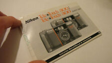ORIGINAL NIKON TELE TOUCH TELE TOUCH 300 QD CAMERA USER INSTRUCTION MANUAL GUIDE