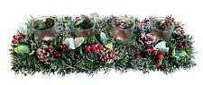 Disposizione Avvento Con Portacandela Fiore Natale Corona Decorazione Natalizia