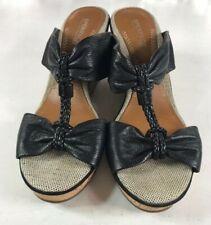Sperry Top-Sider Women's Shoreham Wedge Cork Sandals, Black, 8M
