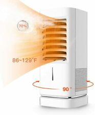 1500W Portable Electric Ceramic Space Heating Fan, Adjustable Thermostat Heater