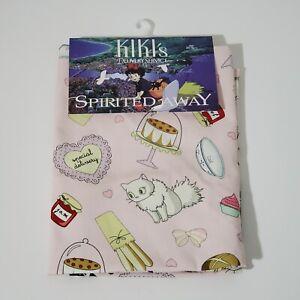 Studio Ghibli Kiki's Delivery Service Pink Bakery Apron Jiji Lily Cats NWT