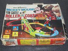 Antiguo Walt Disney Mickey Mouse Montaña Rusa Juguete Juego 1970s DISNEYANA