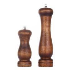 Dianoo 2pcs Wood Salt And Pepper Grinder Pepper Mill And Salt Shaker Set Wooden
