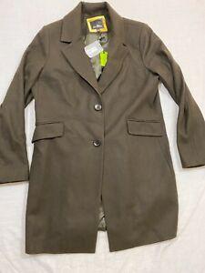M22 SAM EDELMAN Military Green Blazer Flap Wool Pocket Coat Jacket WOMEN'S XL