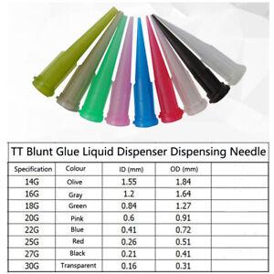 50 PCS TT Blunt Glue Liquid Dispenser Dispensing Needle Plastic Tapered Tips D G