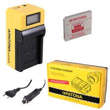 Batteria Patona + caricabatteria Synchron LCD USB per Canon Digital IXUS 120 IS