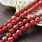 50pcs 6mm Round Natural Stone Loose Gemstone Beads Red Imperial Jasper