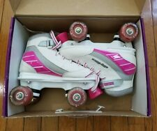 "Girls Size 4 ""City Lights"" Roller Derby Skates; Lighted Wheels Only Worn Once!"