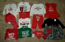 Baby Girl Christmas Carter's Holidays 14 Pc Outfit Clothes Dress Pants set 6-9M