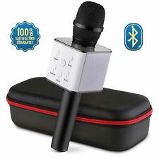 New Handheld Q7 Wireless Bluetooth Karaoke Microphone Mini USB MIC Speaker UK