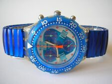 "SWATCH Midi-Aqua-Chrono-flex ""ORANGE JUICE"" + NEUF + - L -"