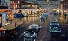 Main Street in Season By Ken Zylla Signed and Numbered Print 30 x 18