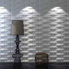 Decorative 3D Wall Panels for TV Background Art3d 32 Sq Ft Plant Fiber Sculpture