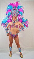 BRAZILIAN PINK/BLUE SHOW GIRL  carnival SAMBA  COSTUME bikini/CUSTOM MADE