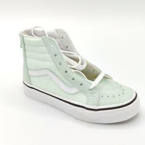 Vans Kids SK8-HI ZIP Aqua Glasd/White VN0A3276QQ5 Pre-School Shoes Size 11.5