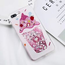 iPhone 8 6 6s 7 Plus Bling Hybrid Liquid Glitter Rubber Protective Case Cover
