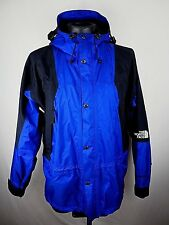 VTG Men's The North Face TNF Blue Black Gore-Tex Hooded Waterproof Jacket LG NM