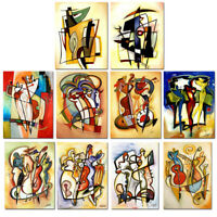 Wall Art Canvas HandPainted Alfred Gockel Abstract Oil Painting Reproduction