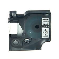 45010 NERO SU TRASPARENTE NASTRO COMPATIBILE DYMO D1 CASSETTA LABELMANAGER 12mm