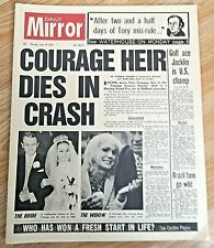 Daily Mirror Newspaper Golf Tony Jacklin Brazil World Cup Piers Courage F1 Dies
