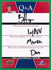 2009 UD USA Baseball BRYCE HARPER AUTOGRAPH Q & A USA/Nationals 28/65