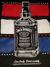 Jack Daniels Old No 7 Red White and Blue USA T Shirt