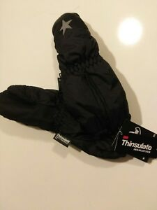 3M Thinsulate Children's Mittens Nwt. Black Size xs 1-3 (toddler size)