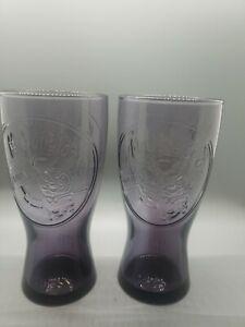 McDonalds Drinking Glasses 1955 Speedee Retro Purple Hamburger